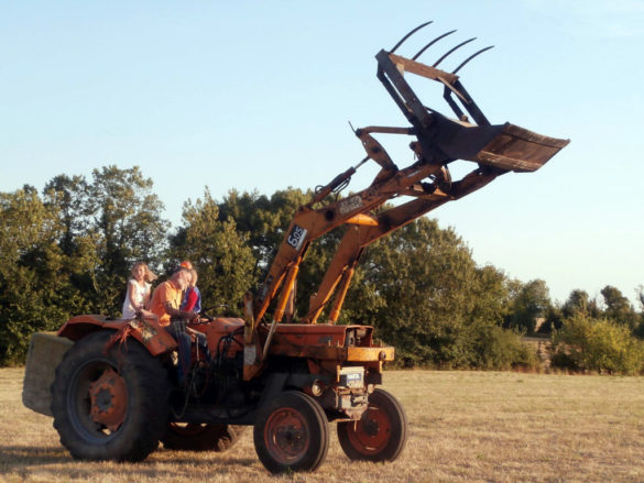 Work to the ferme du Champ du Parc